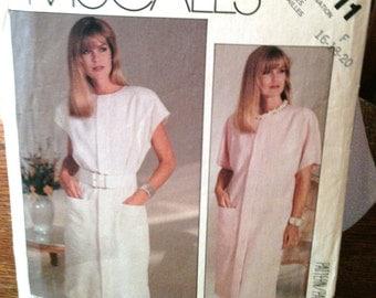 McCall's Misses Dress Pattern 2911