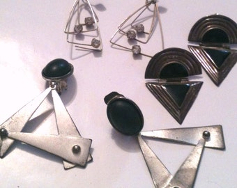 Broken Triangular Earrings