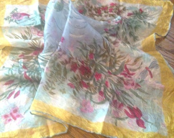 Antique Small Silk Scarf