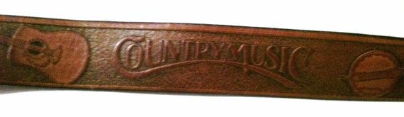 Leather Country Music belt