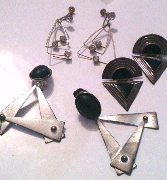 Broken Triangular Earrings