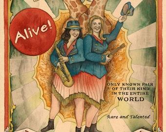The Chapinski Sisters - giclee print