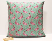 Pink Flamingo cushion cover