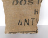 Coffee sack cushion cover