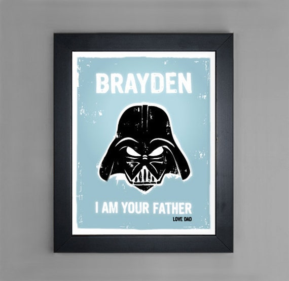 Star Wars - I Am Your Father - Personalized Nursery or Children's Room Wall Art