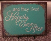 Romantic Happily Ever After Wedding Painting - Crimson and Clover