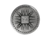 3 Mayan 11/16 inch ( 18 mm ) Metal Buttons Silver Color