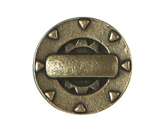 2 Steampunk Gizmo 3/4 inch ( 20 mm ) Metal Buttons Brass Color