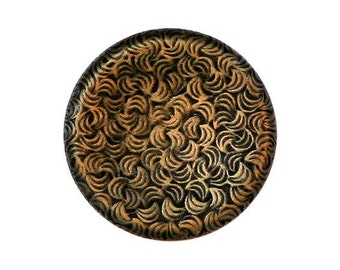 2 Curve Imprints 7/8 inch ( 22 mm ) Metal Shank  Buttons Antique Brass Color