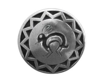 Danforth Southwest Rabbit 7/8 inch ( 22 mm ) Pewter Metal Button