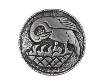 2 Pelican in Her Piety 7/8 inch ( 23 mm ) Pewter Buttons