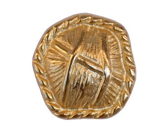 2 Thatch 3/4 inch ( 20 mm ) Metal Buttons Gold Color