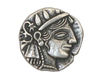 6 Julius Caesar 7/8 inch ( 22 mm ) Metal Buttons