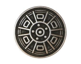 3 Wheel 3/4 inch ( 20 mm ) Metal Buttons Silver Color