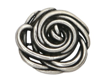 2 Wild Rose 1 inch ( 25 mm ) Metal Buttons