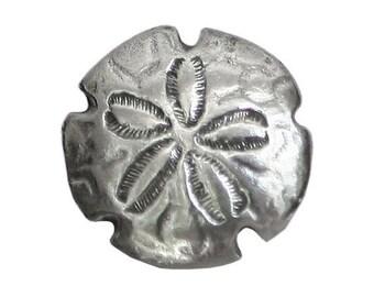 Danforth Sand Dollar 3/4 inch ( 18 mm ) Pewter Metal Button