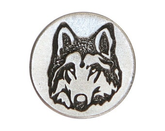 2 Woodland Wolf 1 inch ( 24 mm ) Metal Pewter Buttons