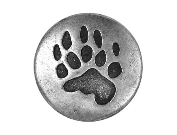 3 Bear Claw 3/4 inch ( 20 mm ) Metal Buttons