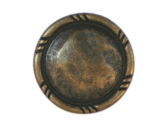3 Rusticana 13/16 inch ( 20 mm ) Metal Buttons Brass Color