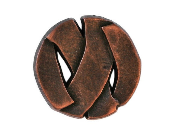 3 Branded 7/8 inch ( 22 mm ) Nylon Buttons Copper Color