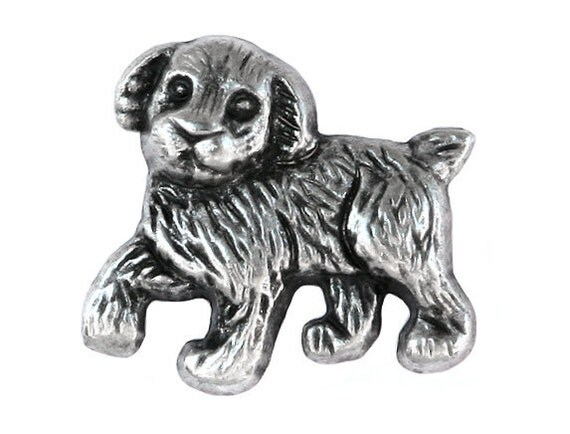 12 Pooch Dog Puppy 1 inch ( 25 mm ) Metal Buttons