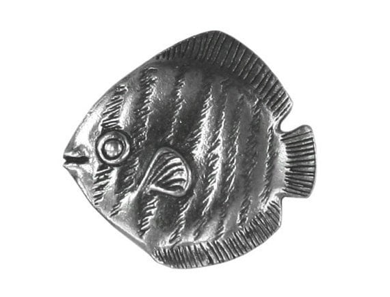 Danforth Tropical Fish 7/8 inch ( 23 mm ) Pewter Metal Button