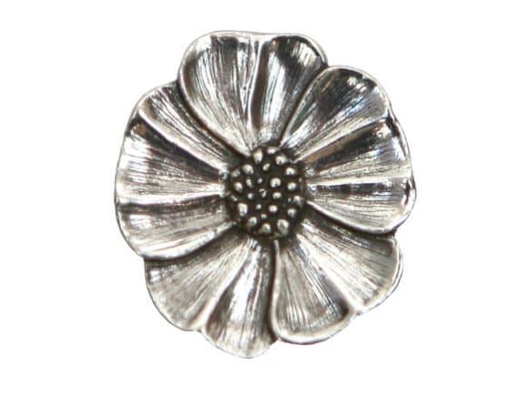 Danforth Wild Rose 7/8 inch ( 22 mm ) Pewter Metal Button