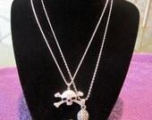 Fleur de Fleur & Skull Necklace