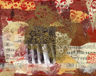 Red Piano Fine Art Print