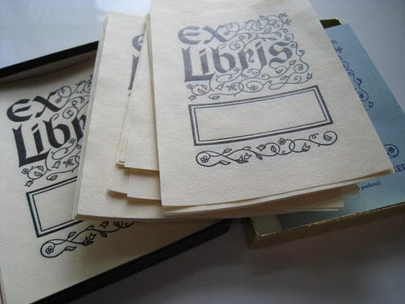 Vintage EX LIBRIS Bookplates - 45 Collectible Classic Bookplates by Antioch Bookplate Co.