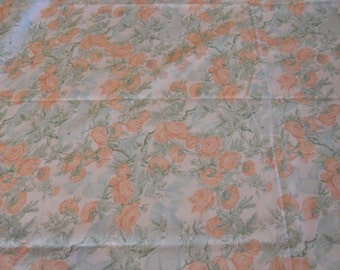Vintage Fabric, Vintage Floral Fabric, English Country Fabric, Floral Fabric