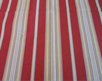"Stripe Fabric ""Seaside Stripe"" color Cardinal by Waverly"
