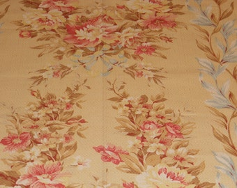 "Vintage Inspired Fabric ""Kristyn Bouquet"" by American Folk and Fabric"