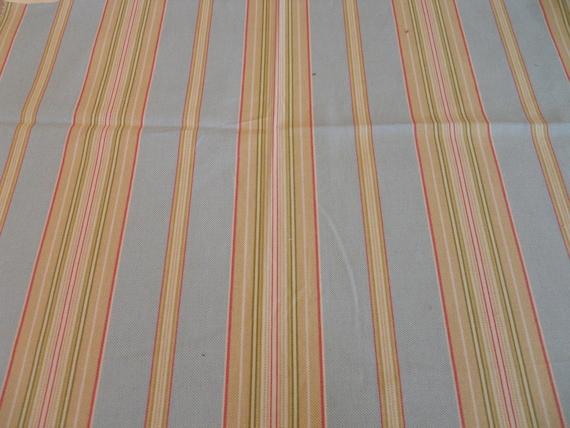 """Stripe Fabric """"Seaside Stripe"""" color Ocean by Waverly"""