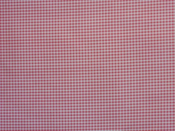 """Pink and White Check Fabric, Gingham, """"Cheerful Check"""", color Primrose by Waverly"""