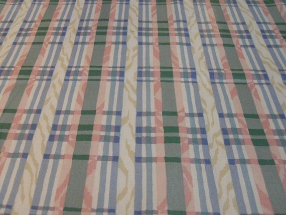 "Waverly Polished Cotton, ""Carousel Plaid Classics"", Vintage 1990's"