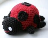 No Longer Grouchy Ladybug Amigurumi (soft plush or pincushion)