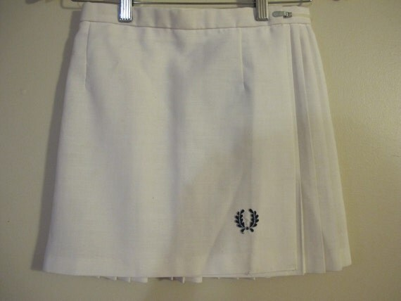 SALE Fred Perry Mod Tennis White Mini Skirt size S