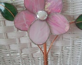 Stained Glass Flower - Pink