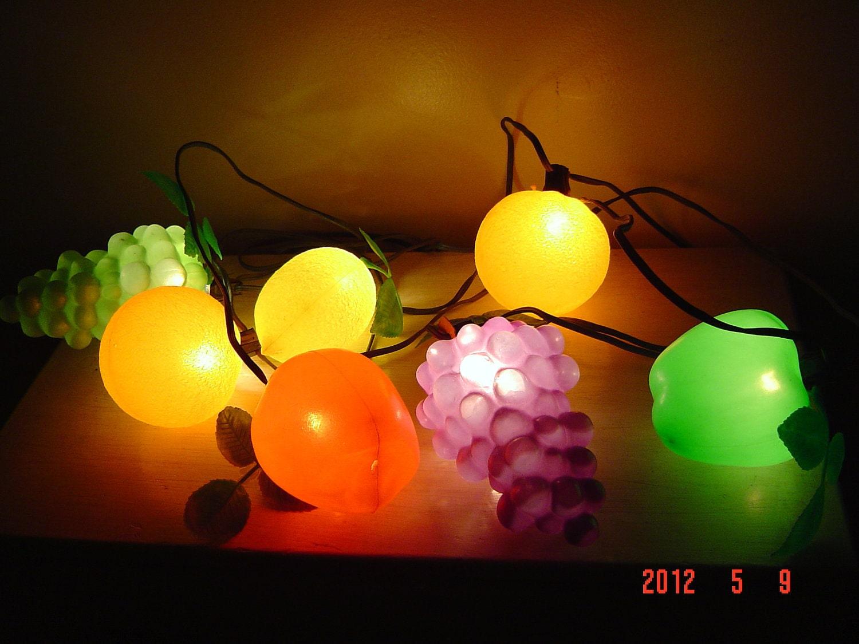 Vintage Party Patio Fruit Lights
