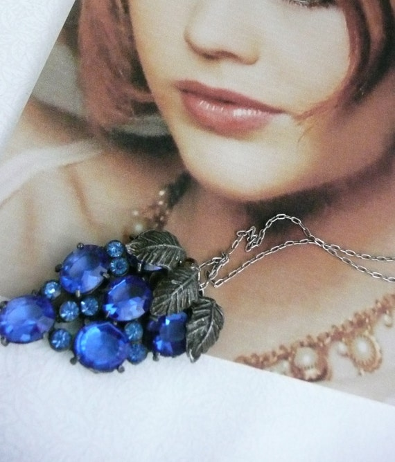 RESERVED Vintage Czech W Germany Bridal Necklace, Unique Artisan Recycled Jewelry