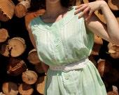 The Janis Julep Dress - Vintage 1960's Mint Green Shift