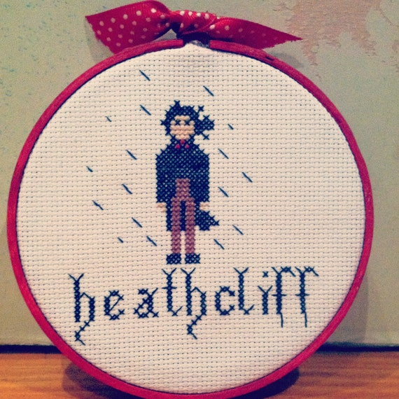 Heathcliff from Wuthering Heights Cross Stitch Pattern