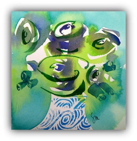 "Lime Love Spiral Series 8.5"" x 11"" Archival Digital Print"