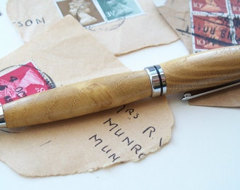 Hand-turned wooden pen mulberry