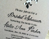 Custom Invitations - Bridal - Wedding - Shower - Fleur de Lis - Floral - Black and White - Eco Friendly - Recycled - Baby Shower