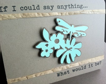Say Anything - Lyrical Quote - Tristan Prettyman - LOVE - Recycled Kraft - PERSONALIZED - CUSTOM - Eco Friendly
