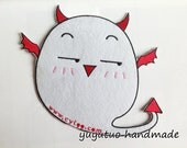 Iron on Fabric BIG Patches - cute devil baby 17 15cm