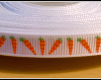 """3/8"""" Carrot grosgrain ribbon, perfect for Easter and Bunnies  5 yards"""