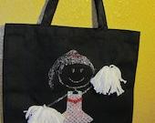Sparkle Cheerleader Canvas Tote Bag
